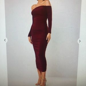 MISSGUIDED bodycon scrunched maxi dress